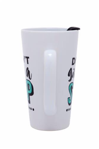 Formation Brands I Don't Give a Sip Latte Mug + Lid Perspective: back