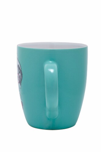 Pacific Market International Top Dog Jumbo Mug - Light Blue Perspective: back