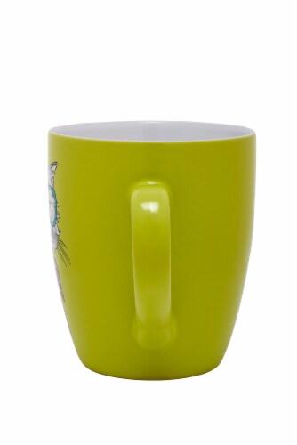 Pacific Market International Jumbo Cool Cat Mug - Yellow Perspective: back