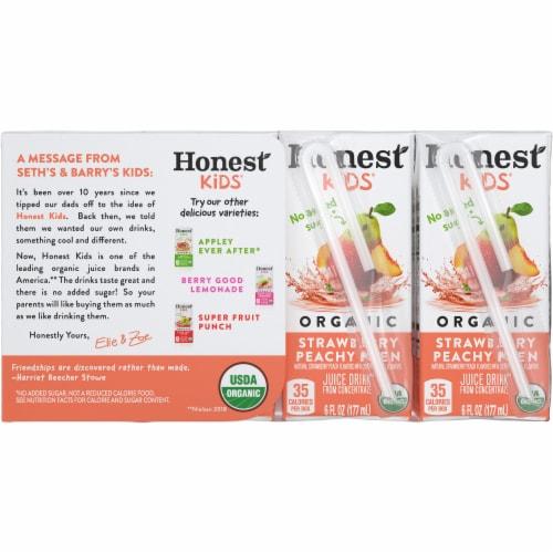 Honest Kids Organic Strawberry Peachy Keen Juice Perspective: back
