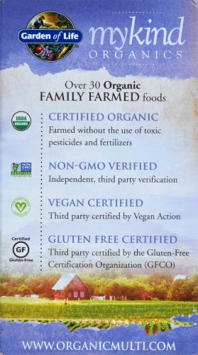 Garden of Life myKind Organics Men's Once Daily Multivitamin Vegan Tablets Perspective: back