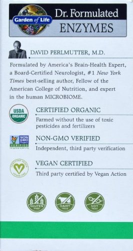 Garden of Life Dr Formulated Organic Digest + Enzymes Chewables Perspective: back