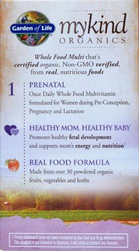 Garden of Life myKind Organics Prenatal Once Daily Vegan Tablets Perspective: back