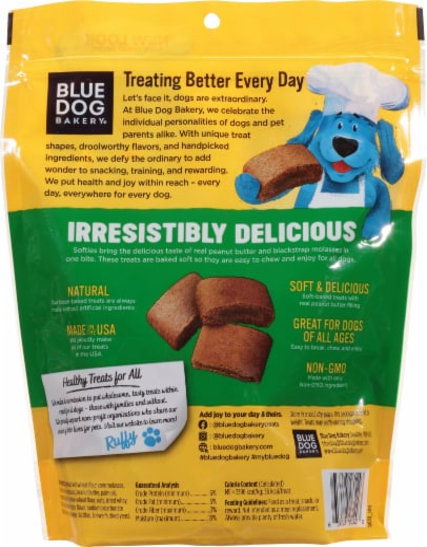 Blue Dog Bakery Softies Peanut Butter Flavor Medium Dog Treats Perspective: back