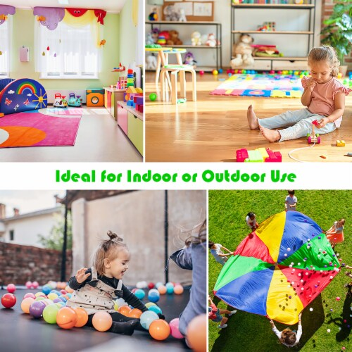Costway Inflatable Bouncer Kids Bounce House Jump Climbing Slide BallPit Without Blower Perspective: back