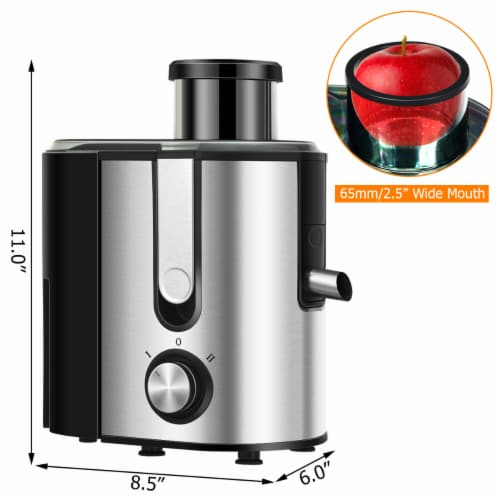 Costway Juicer Machine Juicer Extractor Dual Speed w/ 2.5'' Feed Chute Perspective: back
