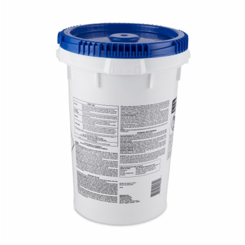 Star Plus Wrapped Trichlor Jumbo 3-Inch Pool Chlorine Tablets, 50 Pound Bucket Perspective: back