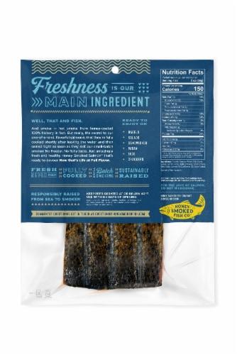 Honey Smoked Fish Co. Garlic & Herb Salmon Perspective: back