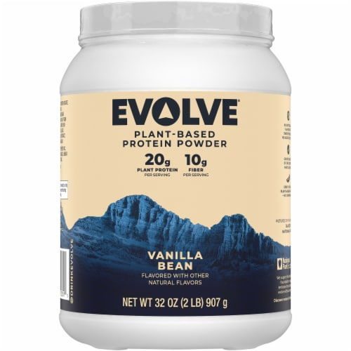 Evolve® Plant-Based Ideal Vanilla Bean Protein Powder Perspective: back