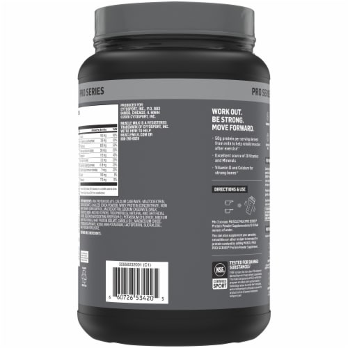 Muscle Milk Pro Series Knockout Chocolate Protein Powder Perspective: back