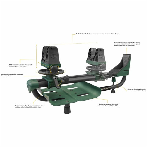 Caldwell Lead Sled 2 Outdoor Range Adjustable Ambidextrous Rifle Shooting Rest Perspective: back