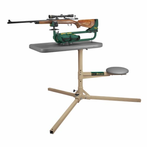 Caldwell 252552 The Stable Table with Ambidextrous Weatherproof Design and Seat Perspective: back