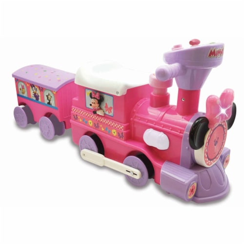 Kiddieland Disney Minnie Mouse Activity Ride On Train Engine and Caboose Toy Perspective: back