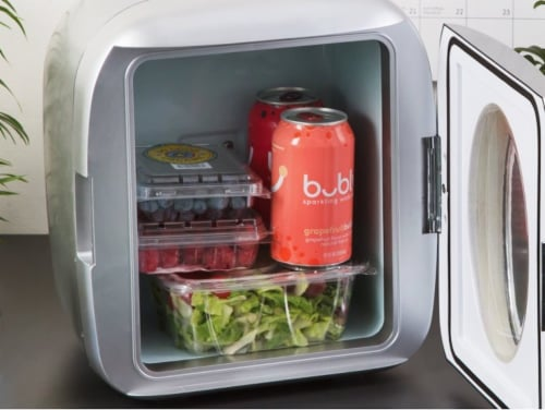 Uber Appliance Personal/Portable Mini Fridge 12 can Cooler/Warmer|indoor/outdoor|Home/office Perspective: back