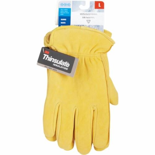 Light Brown West Chester 9920K XL Premium Grain Deerskin Leather Driver Gloves