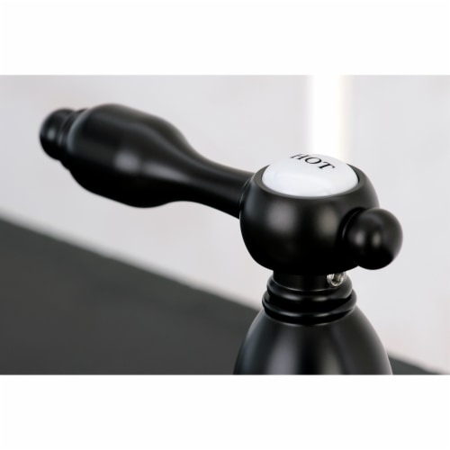 Kingston Brass KB1795TALBS Widespread Kitchen Faucet, Oil Rubbed Bronze Perspective: back