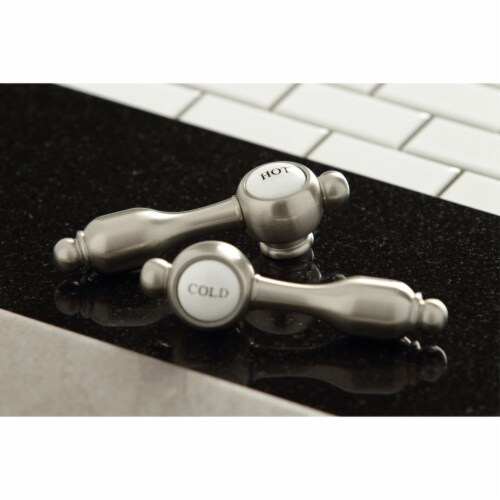 Kingston Brass KB1798TALLS Widespread Kitchen Faucet, Brushed Nickel Perspective: back