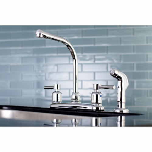 FB751DLSP Concord 8-Inch Centerset Kitchen Faucet with Sprayer, Polished Chrome Perspective: back