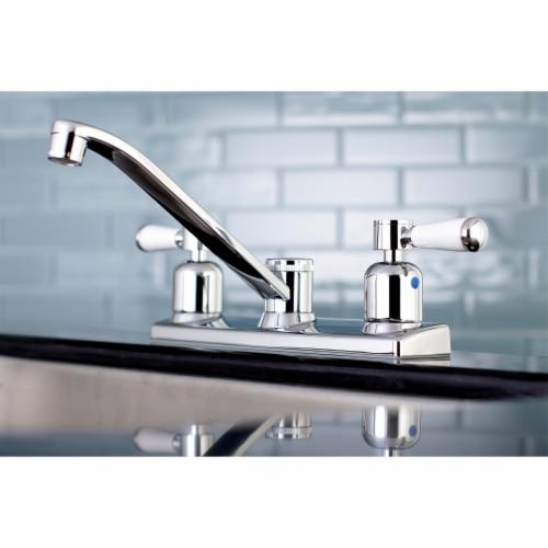 Kingston Brass FB121DPL Paris 8-Inch Centerset Kitchen Faucet, Polished Chrome Perspective: back