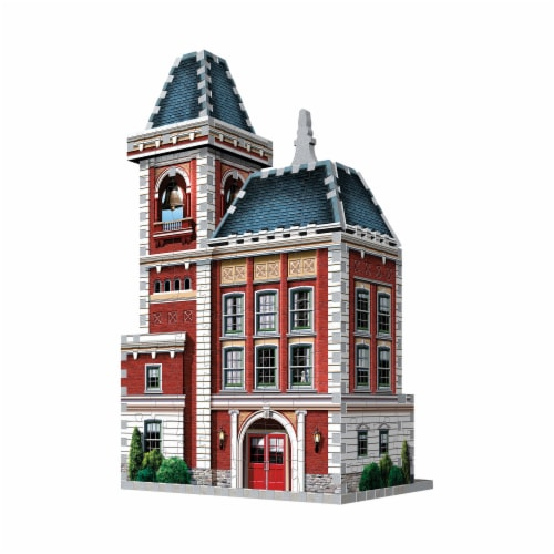 Wrebbit Urbania Collection Fire Station 3D Puzzle Perspective: back