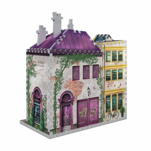 Harry Potter Diagon Alley Collection Madam Malkin's & Florean Fortescue's Ice Cream 3D Puzzle Perspective: back
