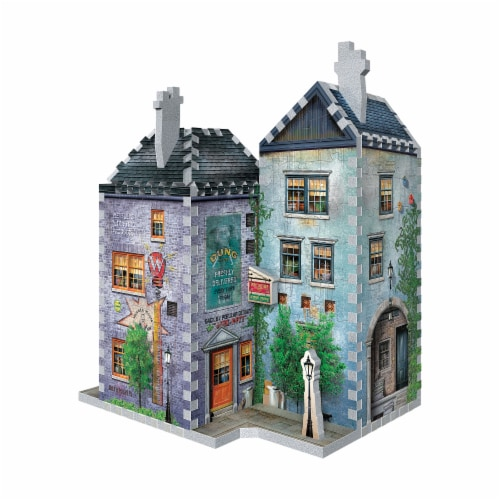 Wrebbit Diagon Alley Collection Weasleys Wizard Wheezes & Daily Prophet 3D Puzzle Perspective: back
