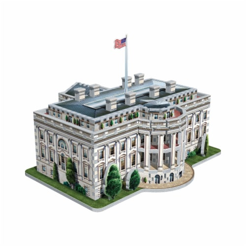 Wrebbit The White House 3D Puzzle Perspective: back