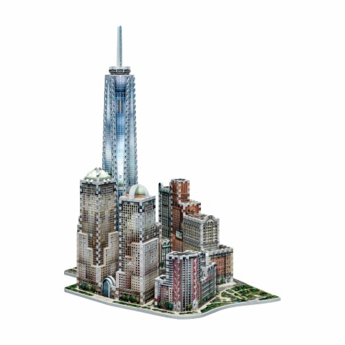 Wrebbit New York Collection World Trade Center 3D Puzzle Perspective: back