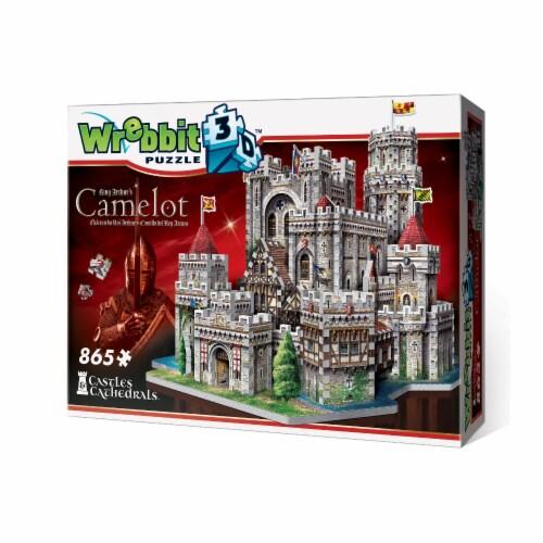 Wrebbit King Arthur Camelot 3D Puzzle Perspective: back