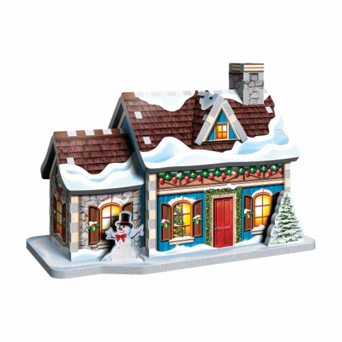 Wrebbit Christmas Village 3D Puzzle Perspective: back