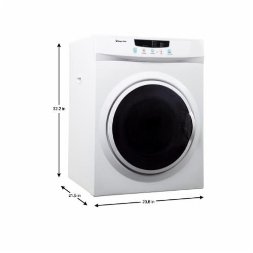 Magic Chef MCSDRY35W 3.5 Cubic Feet Compact Home Laundry Dryer Machine, White Perspective: back