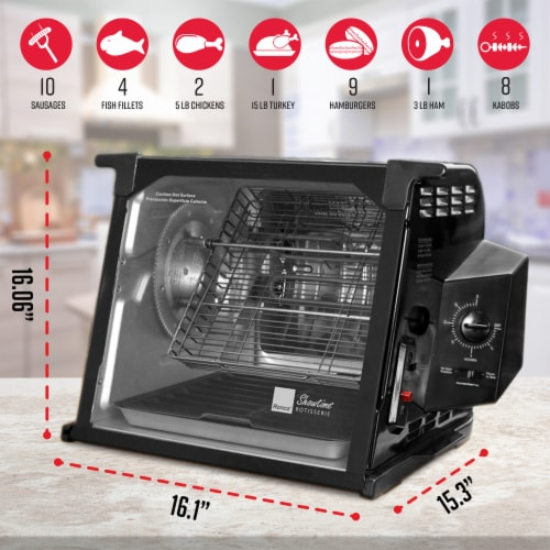 Ronco 4000 Series Rotisserie - Black Perspective: back