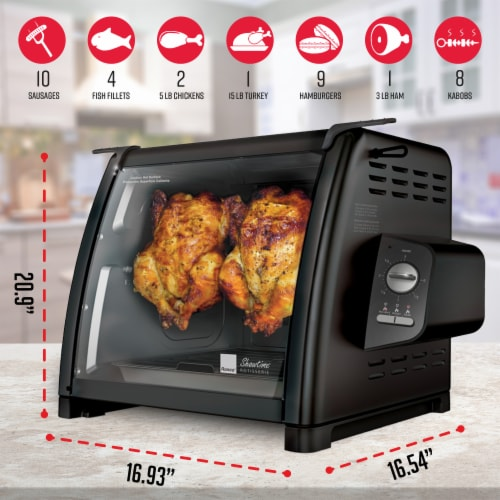 Ronco 5500 Series Rotisserie Oven - Black Perspective: back