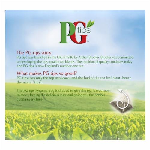 PG Tips Black Tea Pyramid Tea Bags 40 Count Perspective: back