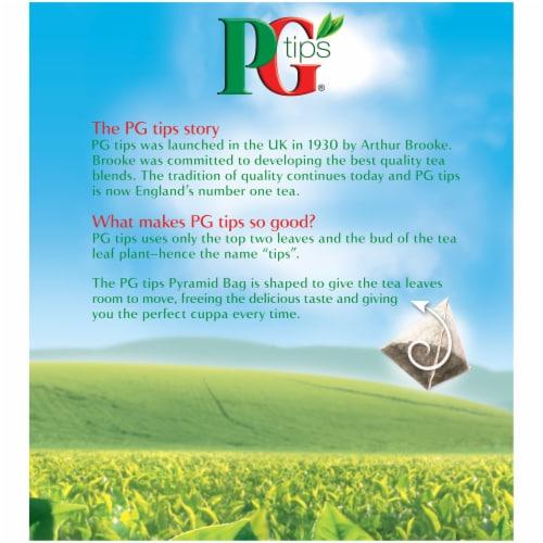 PG Tips Black Tea Pyramid Tea Bags 80 Count Perspective: back