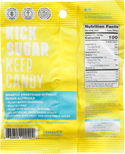 Smart Sweets™ Sour Blast Buddies Candy Perspective: back