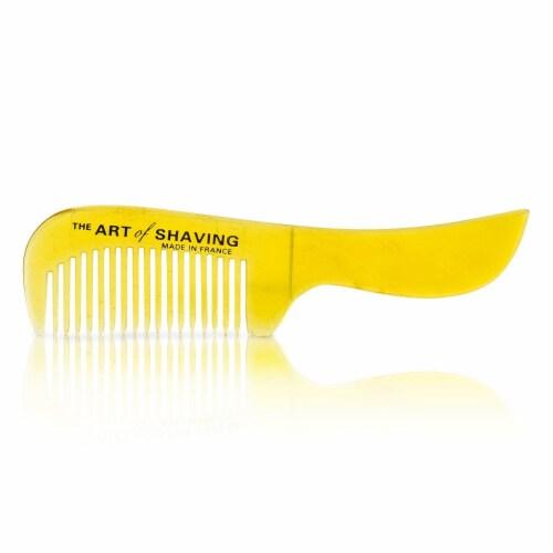 The Art Of Shaving Horn Mustache Comb  Black Suedine 1pc Perspective: back