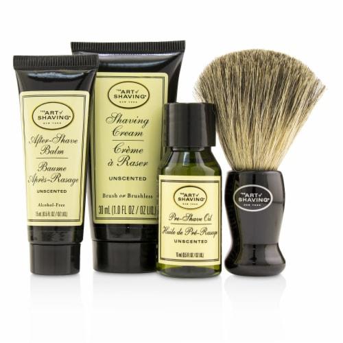 The Art Of Shaving Starter Kit  Unscented: Pre Shave Oil + Shaving Cream + After Shave Balm + Perspective: back