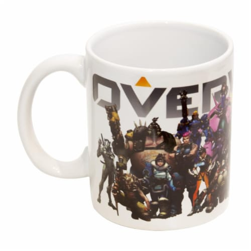 Overwatch Mug | Overwatch Characters and Logo Mug | Collector's Edition Perspective: back