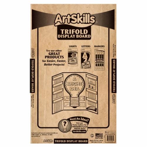 ArtSkills® Corrugated Trifold Presentation Display Board Perspective: back