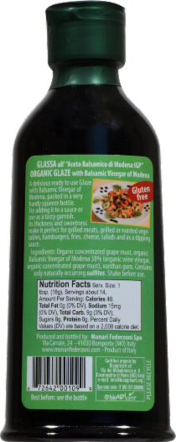 Monari Federzoni Organic Balsamic Vinegar Glaze Perspective: back
