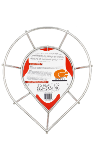 Topsy Turkey/Choice Chicken Roaster Rack Roasting and Grilling Perspective: back