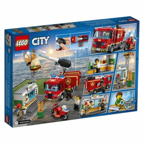LEGO® City Burger Bar Fire Rescue Playset Perspective: back