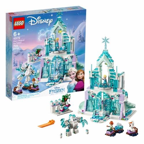 LEGO 43172 Disney Frozen Elsa's Magical Ice Palace Building Kit w/ 4 Minifigures Perspective: back
