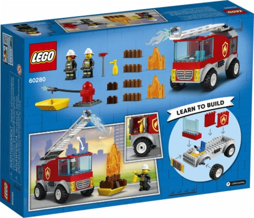60280 LEGO® Fire Ladder Truck Perspective: back