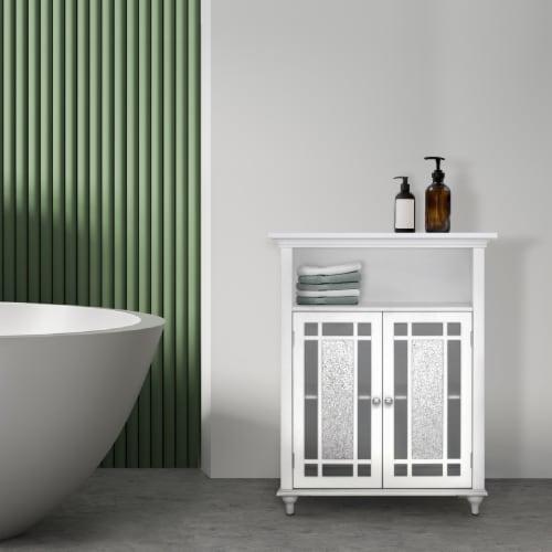 Elegant Home Fashions Wooden Bathroom Floor Cabinet Doors Windsor White ELG-529 Perspective: back