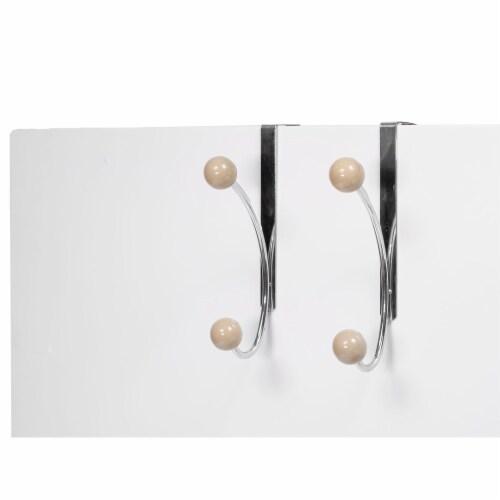 Elegant Home Fashions Single Hook Over The Door Hanger Pack of 2 Mocha OTD-3813 Perspective: back