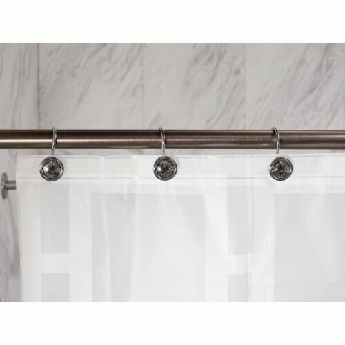 Elegant Home Fashions Bathroom Shower Curtain Hooks Set of 12 Chrome HK40106 Perspective: back