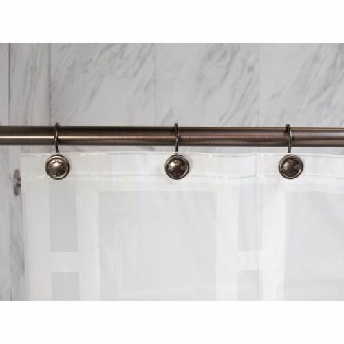 Elegant Home Fashions Bathroom Shower Curtain Hooks Set of 12 Bronze HK40108 Perspective: back