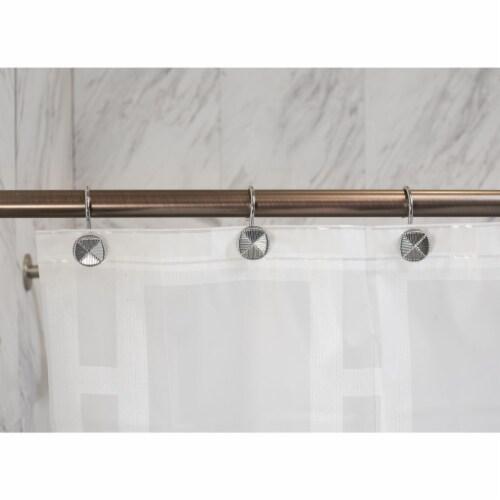Elegant Home Fashions Bathroom Shower Curtain Hooks Set of 12 Chrome HK40115 Perspective: back